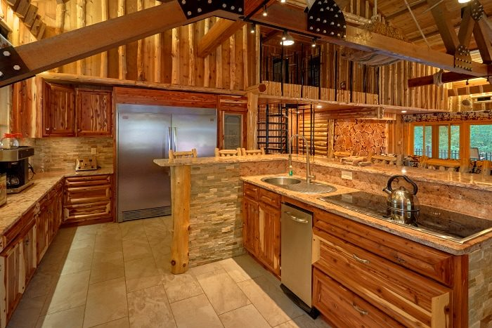 smoky mountain group cabin with river views – cabins usa gatlinburg