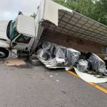 One Northbound Lane of 220 Blocked in Boones Mill Due to Truck Wreck