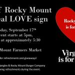Rocky Mount to unveil LoveWorks Sign