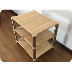 meuble hifi sur mesure inox bois