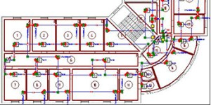 Network Diagram Software for electric, work, fire alarm