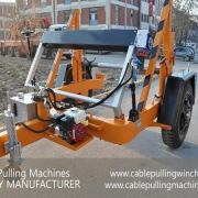 Cable Drum Trailer hydraulic cable drum trailers The best Hydraulic cable drum trailers from cable pulling machines Cable Pulling Machines 101 1