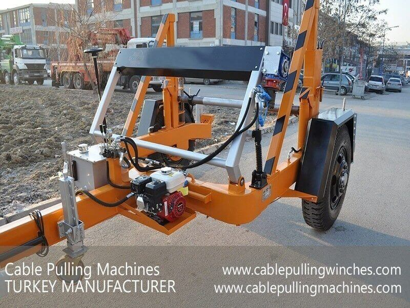 Hydraulic Cable Drum Trailers hydraulic cable drum trailers The best Hydraulic cable drum trailers from cable pulling machines Cable Pulling Machines 101 1