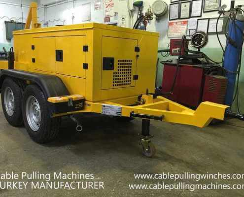 Cable Pulling Winches  كابل آلات سحب وكابل الطبل المقطورات الصانع Cable Pulling Machines 106