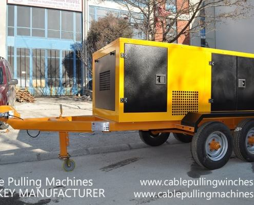 Cable Pulling Winches  كابل آلات سحب وكابل الطبل المقطورات الصانع Cable Pulling Machines 110