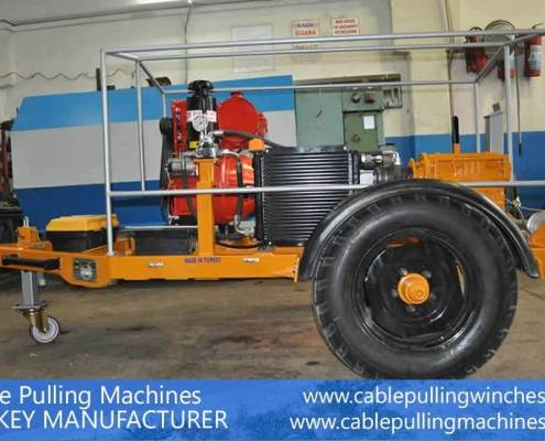 Cable Pulling Winches  كابل آلات سحب وكابل الطبل المقطورات الصانع Cable Pulling Machines 112