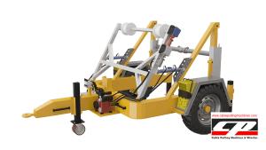 hydraulic cable drum trailers Full Hydraulic Cable Drum Trailers AUTO4 4 Tons Full Hydraulic Drum Trailers 7