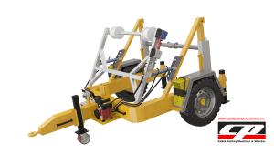 hydraulic cable drum trailers Full Hydraulic Cable Drum Trailers AUTO4 4 Tons Full Hydraulic Drum Trailers 9