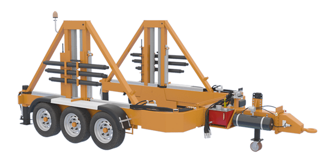 cable pulling machines Cable Pulling Machines and Cable Drum Trailers Manufacturer! 30tone