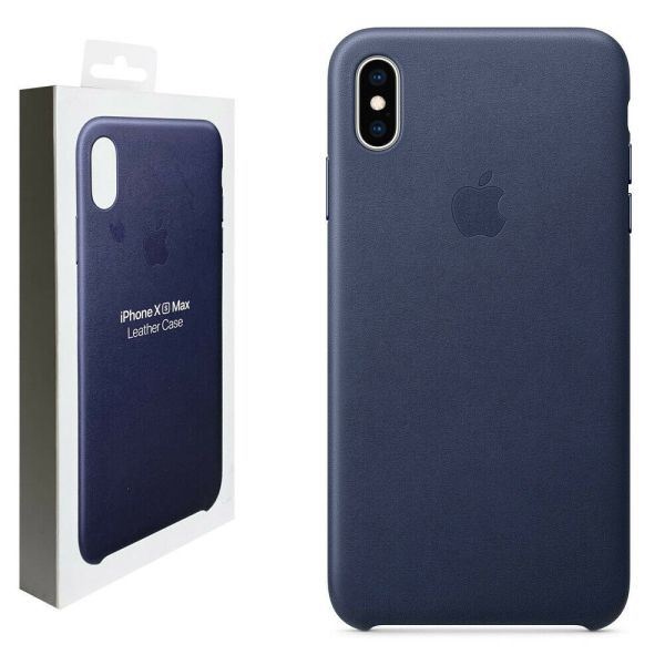 Apple Apple iPhone XS Max Leather Case Blue MRWH2ZM A