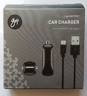 goji 2.4a car charger