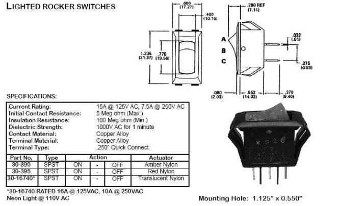 Lighted Rocker Switch Wiring Diagram Ac Lighted Rocker Switches – Lighted Switch Wiring Diagram For Aerator