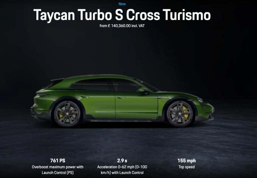taycan turbo S cross Turismo