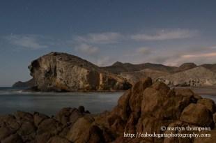 "The ""petrified wave"", Playa de Mónsul"