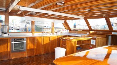 kitchen on 90ft Galeon Luxury Yacht Rentals in La Paz