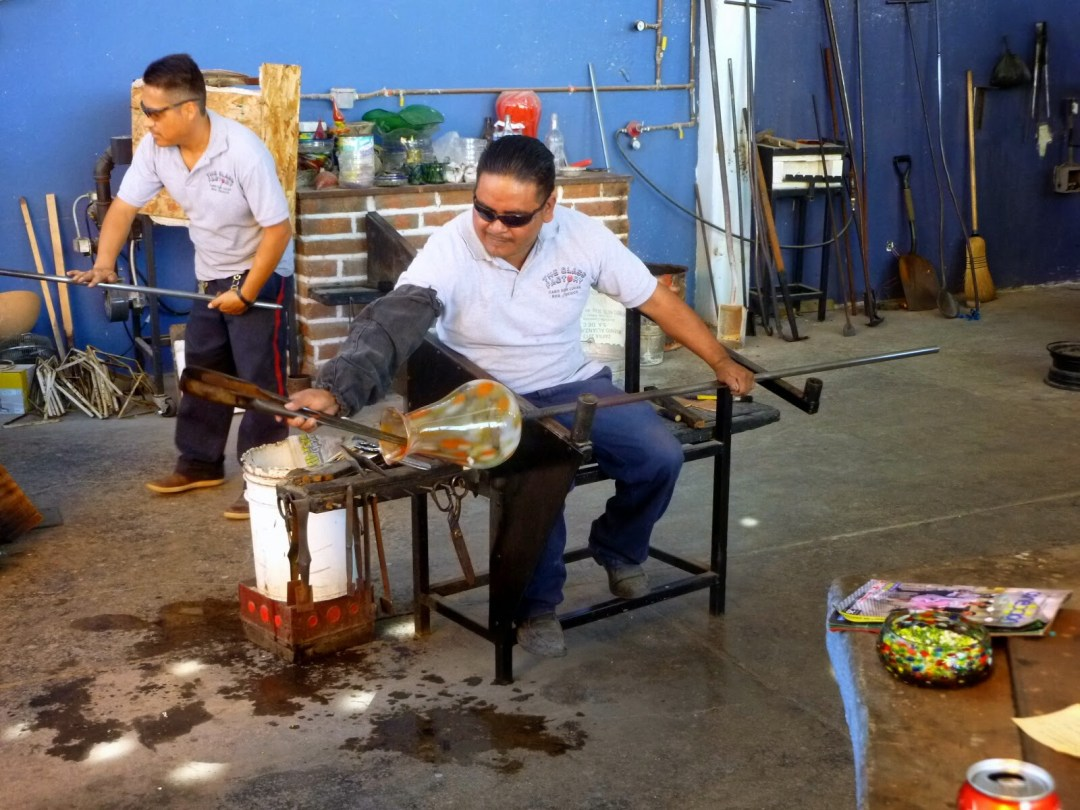 blown glass factory visit in cabo san lucas