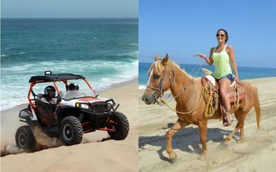 Cabo combo deals, cabo horse riding combo, cabo horseback tours, horseback and atv tours