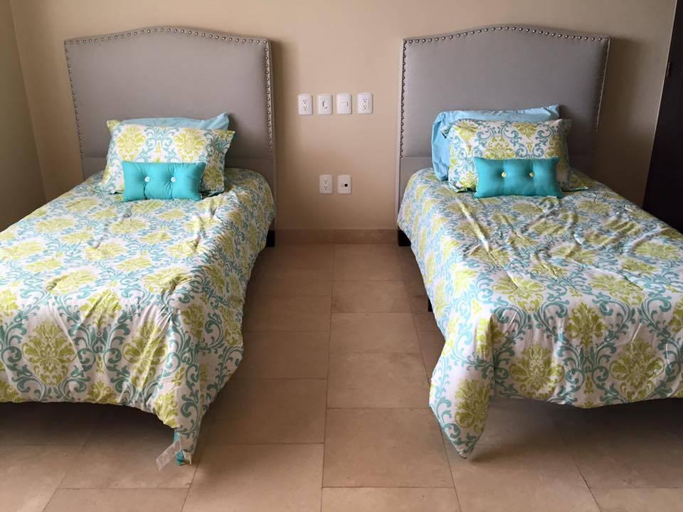 Twin Beds in the Copala Condo In Los Cabos Mexico