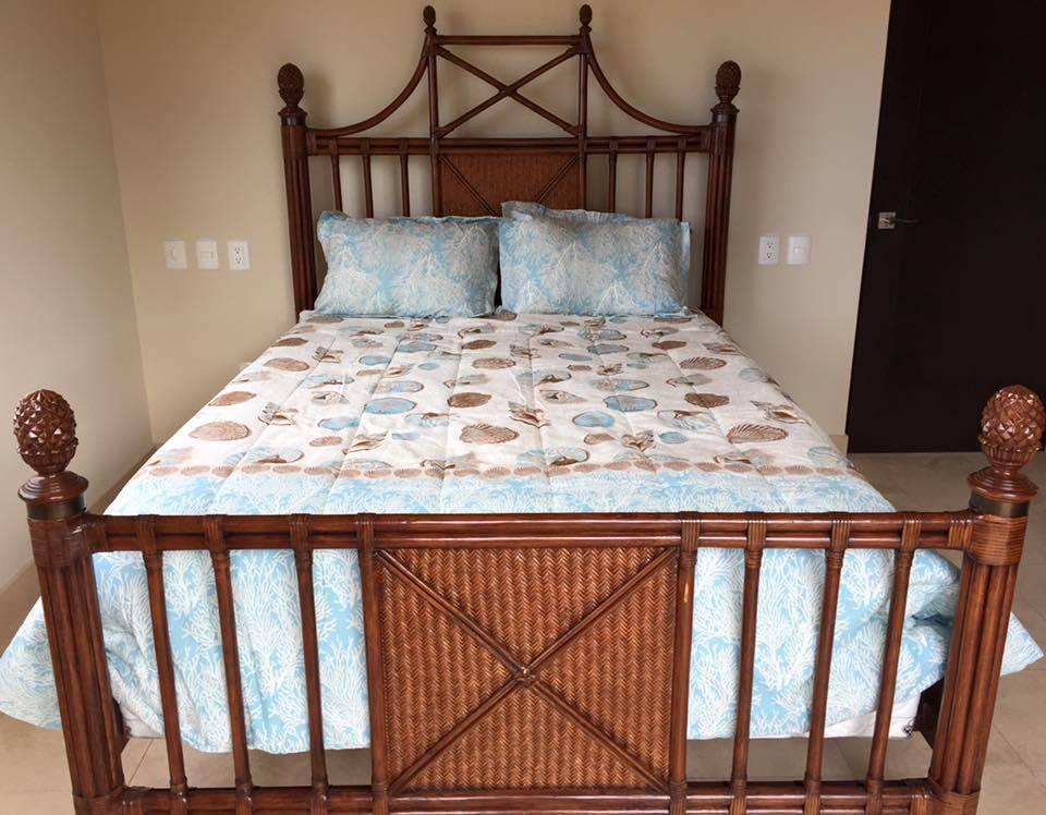 Queen Bed in their Copala Condo in Los Cabos