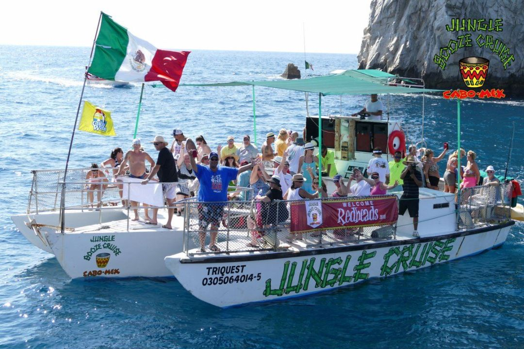 jungle cruise trimaran cabos original booze cruise offering private bachelor parties and bachelorette events