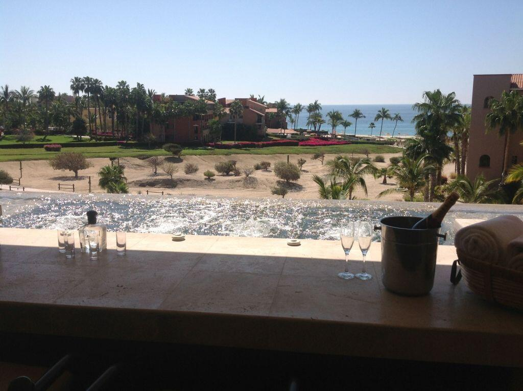 view from jacuzzi las residencias golf resort and spa located in casa del mar cabo san lucas