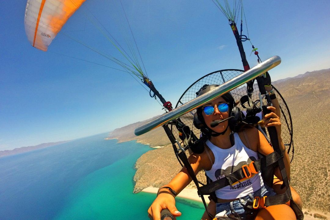 tandem paragliding tour los cabos offers coastal views and the best views available paragliding mexico