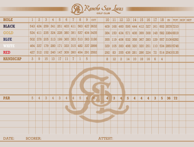 rancho san lucas golf course score card