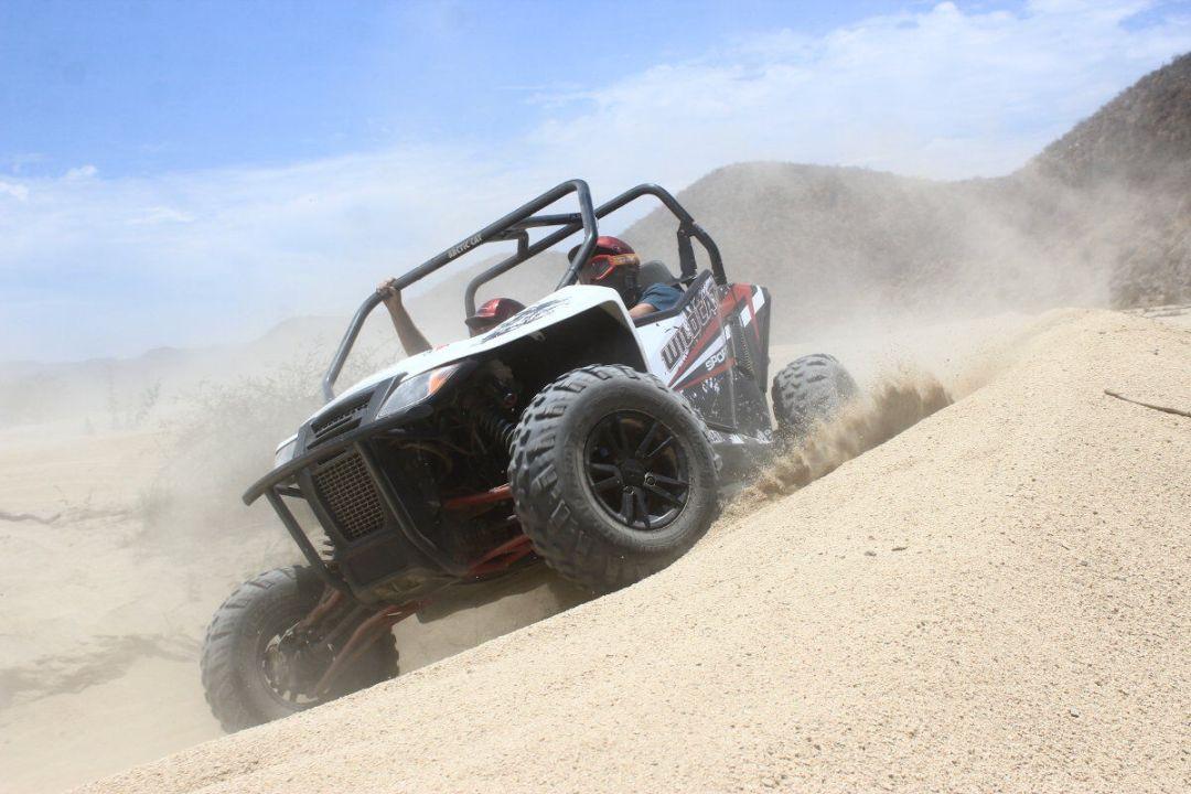 hit the dunes aboard the arctic cat baja sur adventure with cactus atv tours cabo san lucas