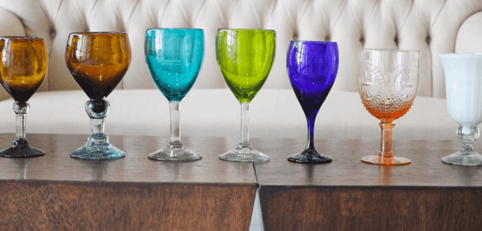 Colored Glasses in your Dinner Table