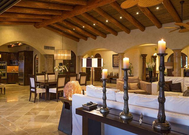 Casa Sahuaro en Cabo del Sol Luxury Rental Villas in Cabo San Lucas lofted ceilings