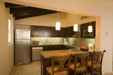 kitchen in Pueblo Bonito Montecristo Estates offers spectacular ocean views of the pacific ocean in cabo san lucas, overlooking quivira golf club