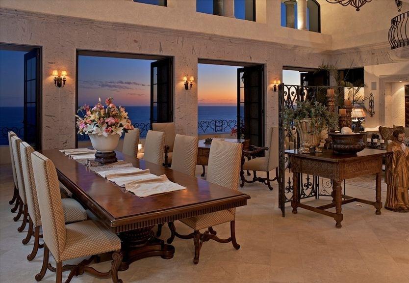 villa la roca pedregal cabo san lucas luxury villa rentals in los cabos dining area