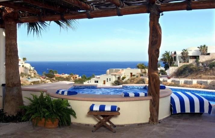 villa del toro rojo pedregal cabo san lucas luxury villa rentals in los cabos view over pool