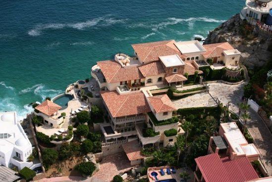 villa la roca pedregal cabo san lucas luxury villa rentals in los cabos overhead view