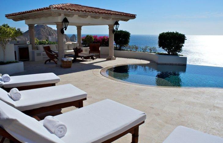 villa la roca pedregal cabo san lucas luxury villa rentals in los cabos pool deck