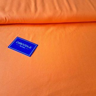 Fluorescent Orange, Cotton Lycra Jersey Knit Fabric