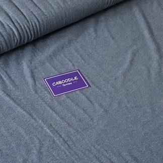 Denim Blue, Cotton Lycra Jersey Knit Fabric