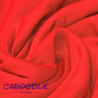 Bright Red - Cotton Lycra Jersey Knit Fabric