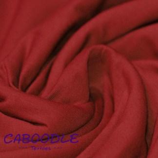 Dark Red - Cotton Lycra Jersey Knit Fabric