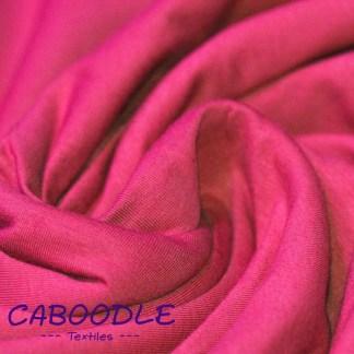 Fushia Pink - Cotton Lycra Jersey Knit Fabric