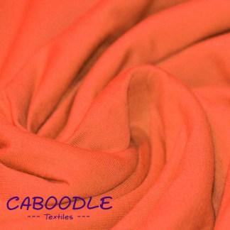 Orange - Cotton Lycra Jersey Knit Fabric