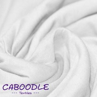 Snow White - Cotton Lycra Jersey Knit Fabric