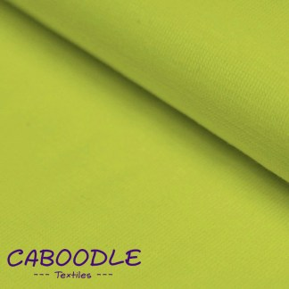 Lime Green Ribbing Stretch fabric for cuffs and waistbands