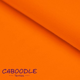Orange Ribbing Stretch fabric for cuffs and waistbands