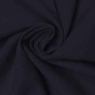 Navy Linen Cotton Mix Fabric