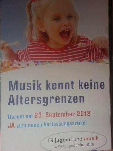 """Werbeplakat """"Bundesbeschluss über die Jugendmusikförderung"""""""