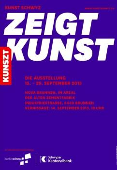 Die Kunst Schwyz stellt 2013 unter dem Motto Kunszt zeigt Kunst in der Zementfabrik Brunnen aus
