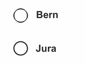 Die Jurafrage: Am 24. November 2013 haben die drei frankophonen Bezirke des Kantons Bern die Qual der Wahl