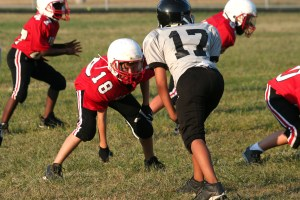 Youth playing sports