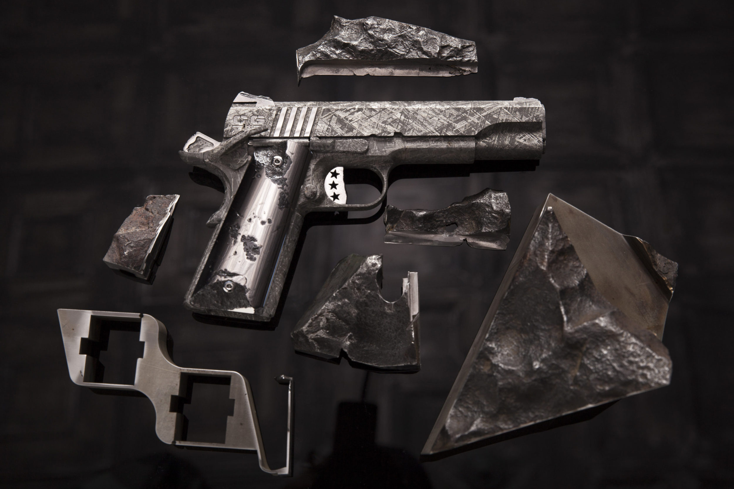 Cabot Bing Bang one of a kind meteorite 1911 pistols